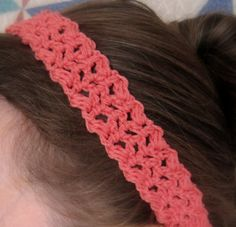 Here's a quick and easy headband pattern just in time for warmer weather. (We're having a wave of seeming-summer in Wisconsin this week -...