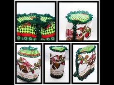 Jogo de Três Capas Para Cozinha, Bico de Crochê, Tema De Natal!!!