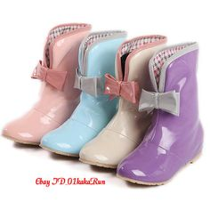 Women's Shoes Bowknot Rain Boots Hidden Wedge Heels Ankle Boots US 4.5-US 10.5 | eBay