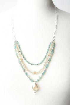 1 Set LOVE Best Wish Pearl Collier Oyster Drop Pendentif chaîne bijoux cadeau nouveau