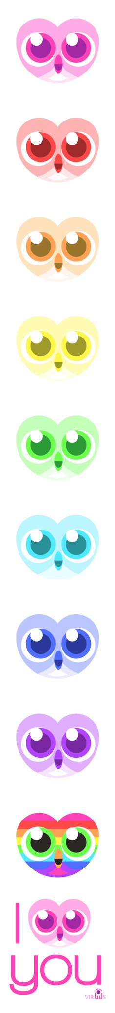 I owl you , a nice way to say i love you for valentine's day with a cute valentine owl rainbow