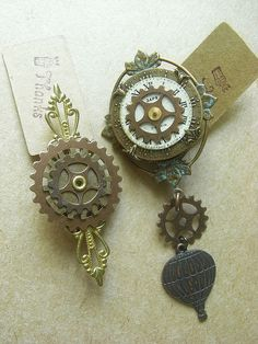 Steampunk brooches-MAYHEM MONDAY by Coral Stig, via Flickr
