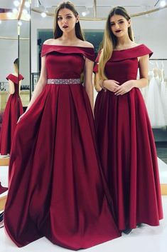 Off Shoulder Burgundy Evening Dress Beaded Belt Wine Red Party Dress Burgundy Evening Dress, Formal Evening Dresses, Burgundy Dress, Prom Dresses For Teens, Girls Dresses, Party Dresses, Wedding Dresses, Burgundy Bridesmaid Dresses, Bridesmaid Gowns