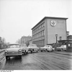 Trabant factory at Zwickau, East Germany, 1958