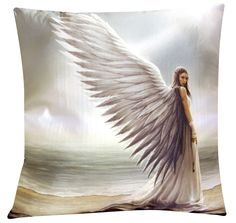 Spirit Guide Cushion by Anne Stokes | Fairy Cushions | Angel Gifts