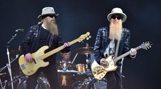 They've got beards, they know how to use them - ZZ Top play the Pyramid stage at #glastonbury2016 #festivalstyle #beards #beardenvy #mensfashion #beardculture #beardlove #beardgang #glastonbury #glasto2016 #music #livemusic #ZZTop #rockmusic #indierock #rockicons #rockgods #guitarheroes #guitar