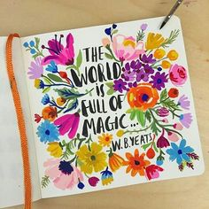 Watercolor - art - flowers - creative - world - quotes - phrases Kunstjournal Inspiration, Sketchbook Inspiration, Painting Inspiration, Illustration Blume, Arte Sketchbook, Guache, Art Journal Pages, Art Journals, Art Journal Challenge