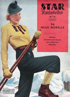 Nearly half a year ago, when the thermometer was hovering around the local beaches were packed with swimsuit clad sunbathers, and it sc. Ski Fashion, Young Fashion, 1940s Fashion, Winter Fashion, Sporty Fashion, Fashion Women, Vintage Fashion, Vintage Ski, Vintage Winter