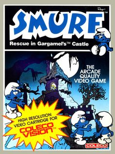 Smurf Rescue in Gargamel's Castle for Colecovision Box Art