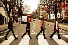 """""""I get by with a little help from my friends""""- The Beatles.  recreate the iconic Abbey Road cover in London"""