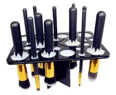 Cosmetic Makeup Brush Tower Tree Holder Storage Unit
