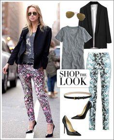 Shop the Street Style Look: Elin Kling Takes Her Denim Printed  - HarpersBAZAAR.com