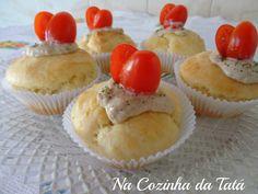 Cupcake salgado com patê de atum