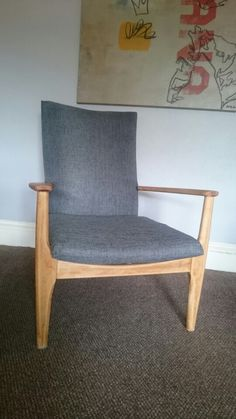 Parker knoll pk 988 1023. Stripped and reupholstered.