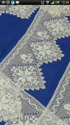This Pin was discovered by Lal Crochet Borders, Filet Crochet, Needle Lace, Needle And Thread, Point Lace, Beading Tutorials, Needlepoint, Needlework, Knitting Patterns