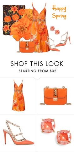 """Happy Spring!"" by sjlew ❤ liked on Polyvore featuring Blumarine, Valentino and Kate Spade"