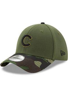 New Era Chicago Cubs Mens Green 2017 Memorial Day 39THIRTY Flex Hat