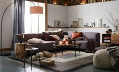 I love the West Elm Rustic + Refined Living Room on westelm.com/