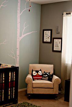 Woodland creature themed nursery