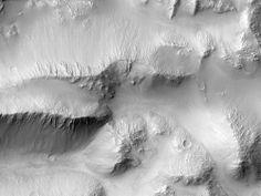 Landslides in Ius Chasma