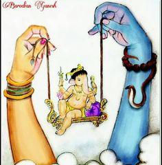 Tattoo traditional music 36 Ideas for 2019 Ganesha Sketch, Ganesha Drawing, Lord Ganesha Paintings, Lord Shiva Painting, Ganesha Art, Krishna Painting, Krishna Art, Sri Ganesh, Ganesha Pictures