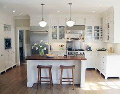 sweet little white kitchen