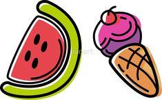 'Kawaii Fruits Watermelon Pattern' Sticker by jianart Watermelon Vector, Kawaii Fruit, Vector Art, Finding Yourself, Kawaii Stickers, Pattern, Illustrations, Shop, Patterns