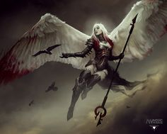Avacyn - Magic the Gathering character concept by Bastien Lecouffe Deharme