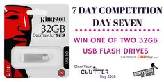 "Competition Day Seven – HAPPY NEW YEAR! Want to win one of two 32GB mega storage USB flash drives?   Great and convenient for not only work use but for personal use too!   For your chance to win: Like our ""Clear Your Clutter Day"" Facebook page https://www.facebook.com/NationalClearYourClutterDay/ Share this post and enter here: http://www.moneymagpie.com/article/competition-win-1-of-2-mega-storage-32gb-usb-flash-drives"