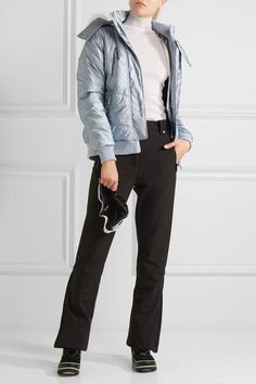 Topshop Sno - Queen B Faux Fur-trimmed Quilted Ski Jacket - Sky blue - UK