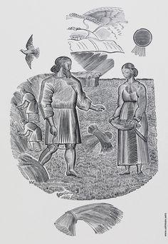 Владимир Фаворский – Иллюстрация к 'Книге Руфь', 1924, ксилография