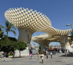 Metropol Parasol is a wooden structure located at La Encarnación square that is pretty much dead centre within the old city quarter. Seville Spain, Old City, Plan Your Trip, Marina Bay Sands, Pergola, Old Things, Outdoor Structures, Building, Travel