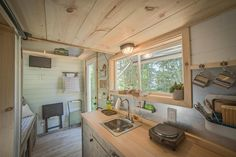 Living tiny doesn't mean you have to rough it. See how tiny home designers Tyson and Michelle Speiss pack luxurious amenities into houses measuring 330 square feet or less.