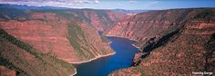 Flaming Gorge, Utah.  My family has a cabin there.  I loved water skiing there while growing up.