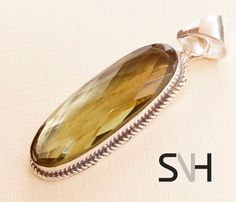 SNH handcrafted Natural PERIDOT Stone Pendant by SNHJewels on Etsy