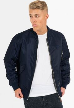 Criminal Damage Jacket - MA1 Navy