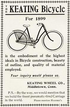 Free Vintage Image ~ Keating Bicycle Advertisement