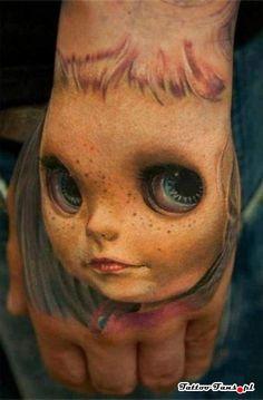 creepy face 3D - Tattoo Fans - Galeria najlepszych tatuaży