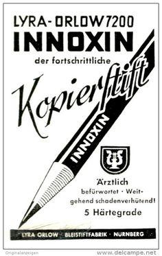Original-Werbung/ Anzeige 1943 - LYRA - ORLOW 7200 INNOXIN KOPIER - STIFT / NÜRNBERG - ca. 45 x 75 mm