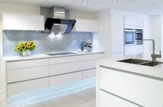Image result for white gloss kitchen ideas