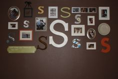 Loving this wall...and not just because it is covered in the letter S ;)