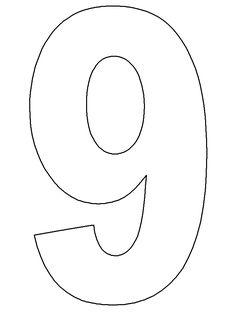 Resultado de imagen para plantillas de numeros del 1 al 10 para imprimir
