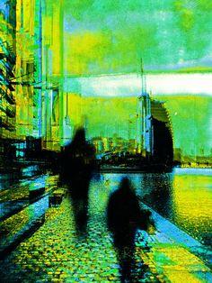 'Walking through Bremerhaven' von Gabi Hampe bei artflakes.com als Poster oder Kunstdruck $20.79