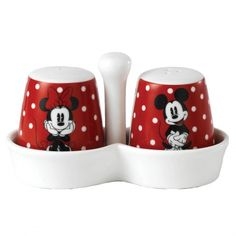 Disney Mickey Minnie Mouse Egg Cups Set Of 2 salt and pepper