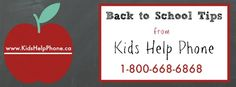 Helping Your Child with Back to School Tips from Kids Help Phone