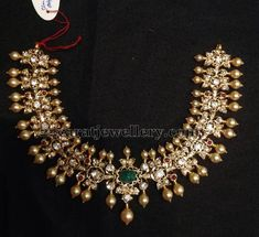 Jewellery Designs: Pachi Work Choker Gold Pearls