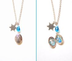 Frozen Inspired Necklace by VintageLightJewelry on Etsy