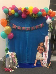 Moana Birthday Party Photo Booth