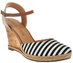 $27.95 As Is Sole Society Closed Toe Wedges w/ Ankle Strap - Lucy. These Sole Society steppers may sport a wedge heel, but a look this fabulous will never feel forced. #ad #ShopStyle #solesociety #qvc #fashion #style #shoes