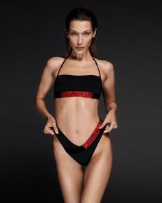 Bella Hadid shows sexy boobs posing in bikini for new Calvin Klein swimsuit campaign. The post Bella Hadid – Calvin Klein Swimsuit Photoshoot (December appeared first on Hot Celebs Home. Calvin Klein Swimwear, Calvin Klein Underwear, Men's Underwear, Swimwear Fashion, Bikini Fashion, Swimwear Model, Bella Hadid Photoshoot, Bella Hadid Outfits, Bela Hadid
